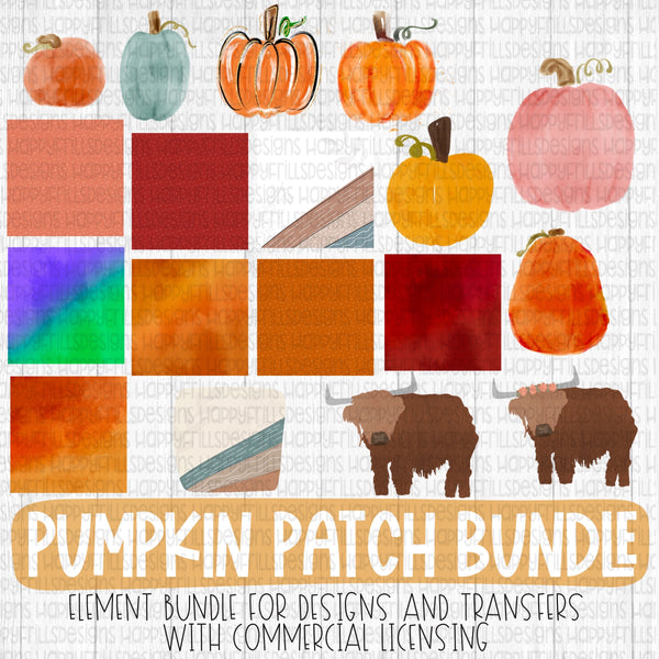 Pumpkin Patch Element Bundle with licensing
