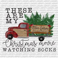 These are my Christmas movie watching socks