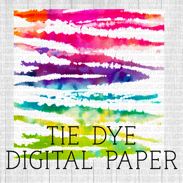 Neon stripes Tie-dye Digital Paper