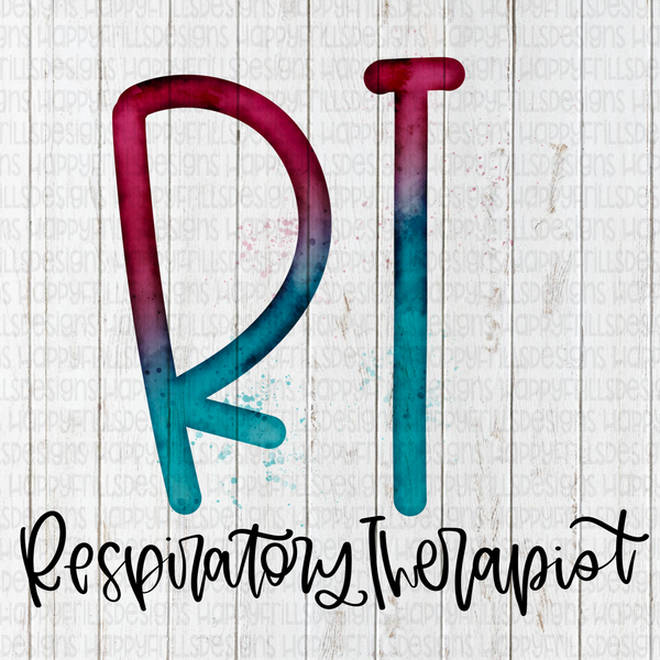 Watercolor Respiratory Therapist