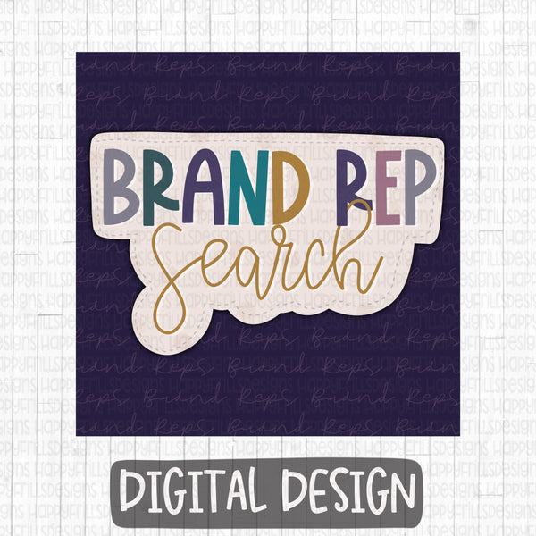 Brand Rep Search Business Group Graphic