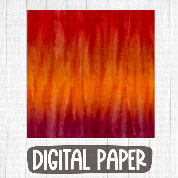 Burnt orange tie dye digital paper