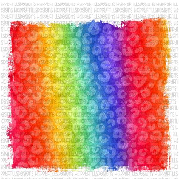 Leopard rainbow background
