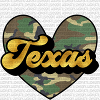 Gold and camo Texas
