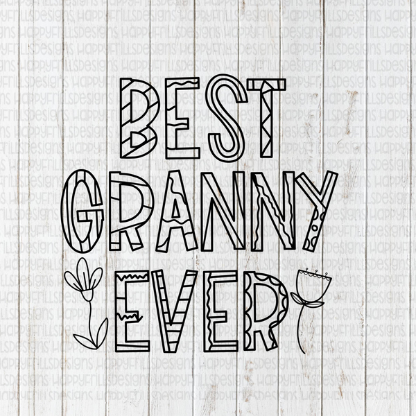 Best Granny Ever Coloring sheet
