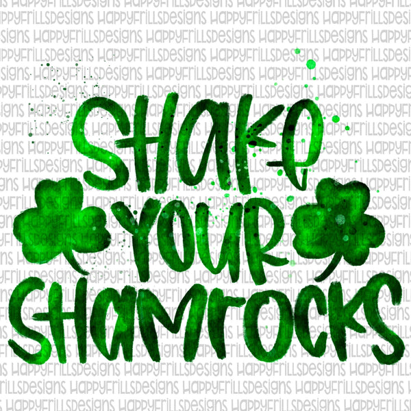 Shake your shamrocks watercolor