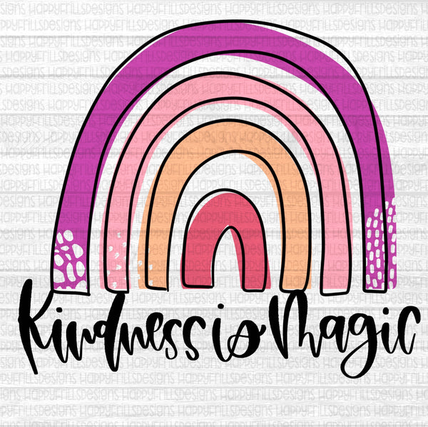 Kindness is Magic rainbow