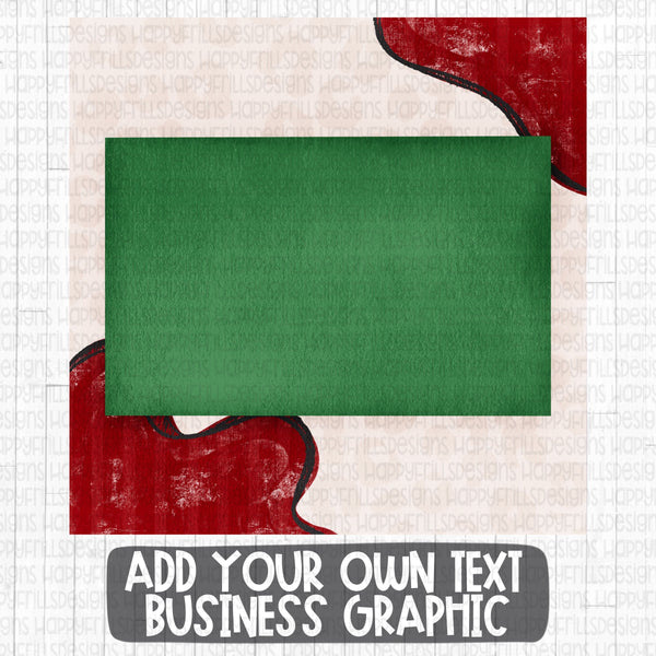 Holiday Blank Business Graphic