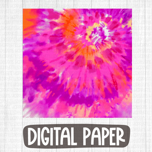 Bright pink tie dye digital paper