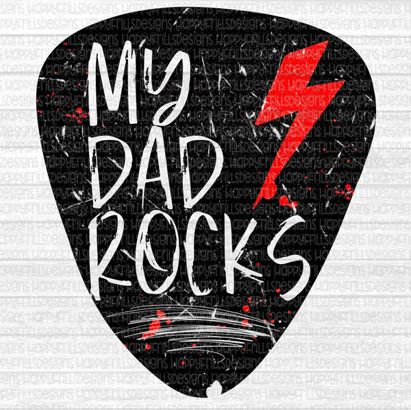 My Dad Rocks Guitar Pick Father's Day
