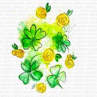 Shamrocks & Roses watercolor