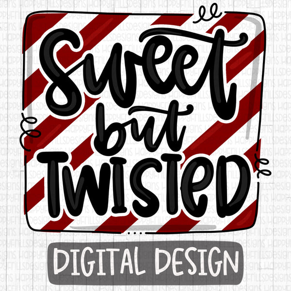 Sweet But Twisted doodle design