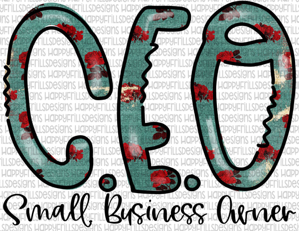 Floral CEO Small Business Owner