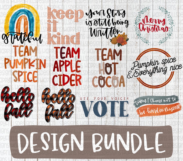Design bundle with 12 individual files