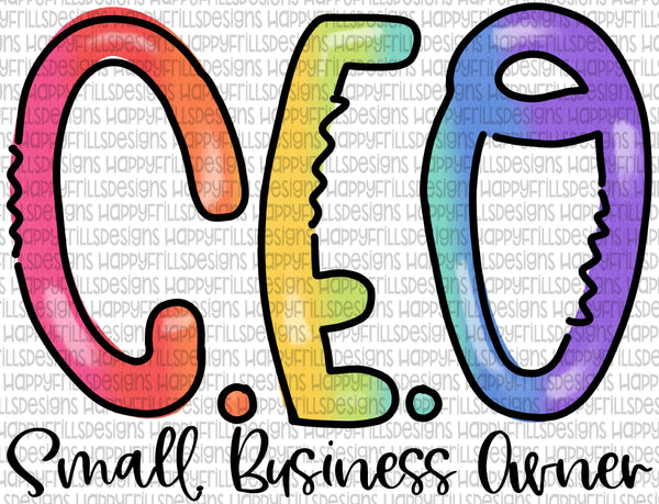 Rainbow CEO Small Business Owner