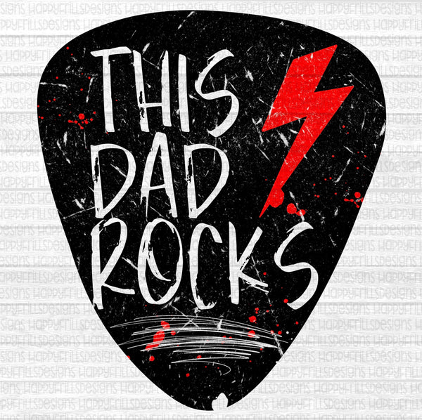 This Dad Rocks Guitar Pick Father's Day