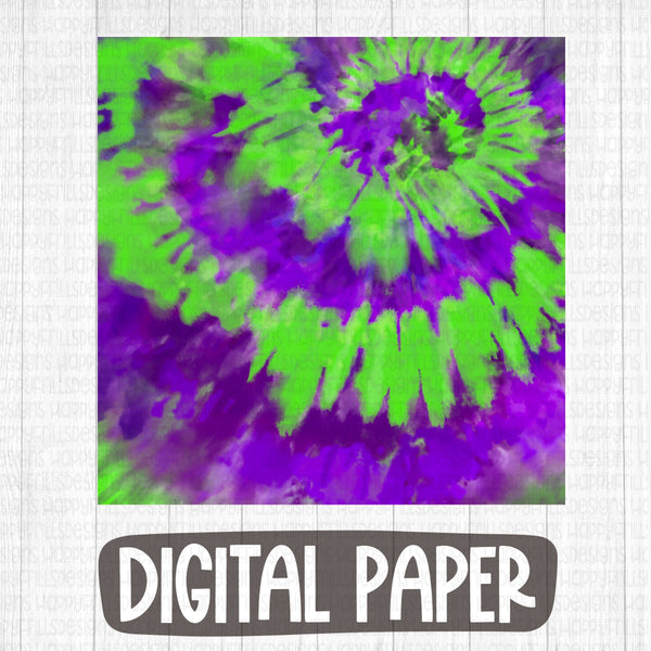 Purple/Green Halloween tie dye digital paper