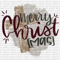 Merry Christmas with cross