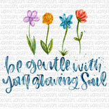 Be gentle With your growing Soul (you get both!)