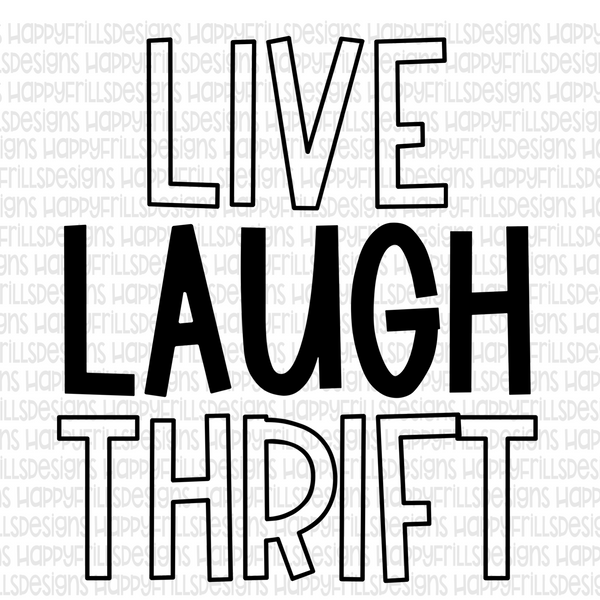 Live laugh thrift