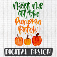 Watercolor Meet Me at The Pumpkin Patch