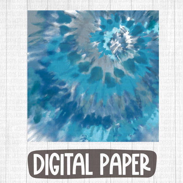 Moody Blues tie dye digital paper