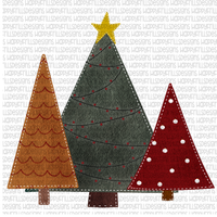 Blank Christmas tree trio