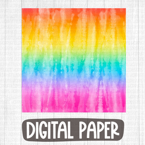 Rainbow summer tie dye digital paper