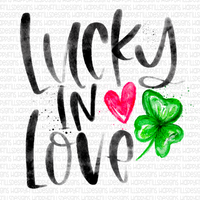 Lucky in Love Watercolor