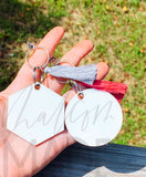 Hexagon keychain set of 5 sublimation blanks