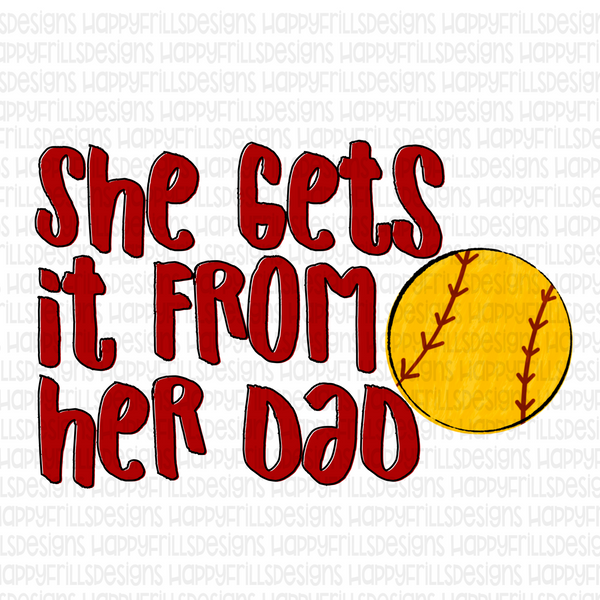She gets it from her Dad- Softball