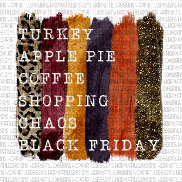 Black Friday Fun List (apple pie)