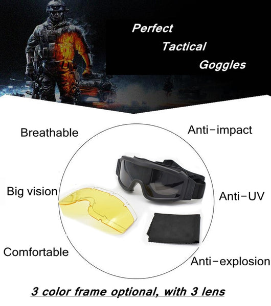 Tactical Goggles Airsoft Military Glasses
