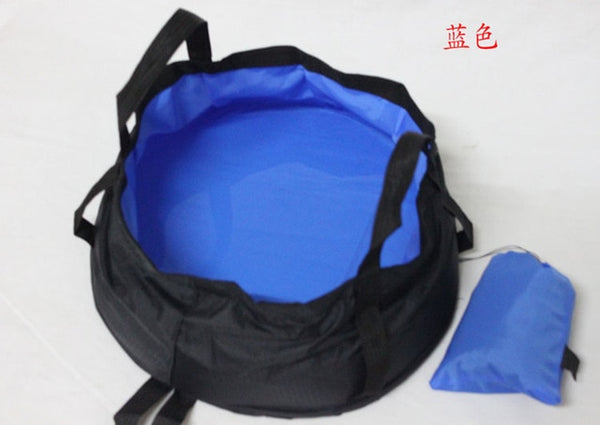8.5L Portable Outdoor Travel Fold-able Folding Camping Washbasin Basin