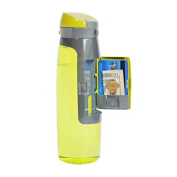 Grid Design Wallet Plastic Water Bottle - Outdoor Sports Portable Gift Drink Fruit Infuser Shaker Bottles