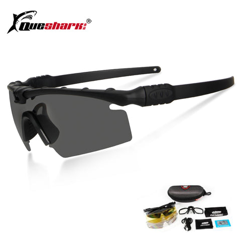 Queshark Army BALLISTIC 3.0 Protection Military Glasses - Tactical Polarized Sunglasses Myopia Frame