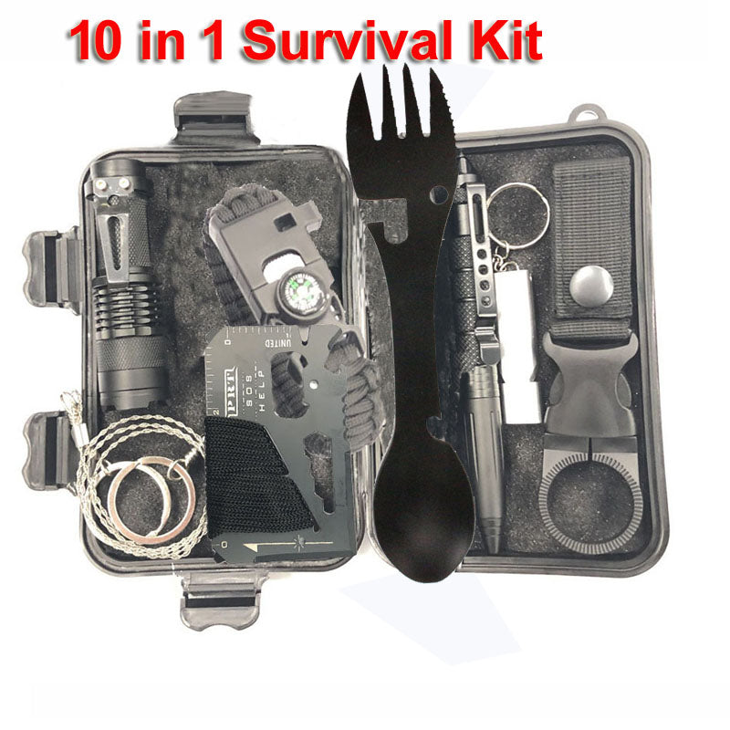 Outdoor  Multifunction First aid (Emergency Camping Tool Wildness Kitchen  Fork and Spoon)