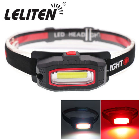 Mini Portable LED Headlamp Outdoor Camping Red-light fishing headlights Flashlight Torch