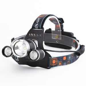 LED Headlight Durable Aluminum Alloy 4 Switch Modes Bright Headlamp Rechargeable
