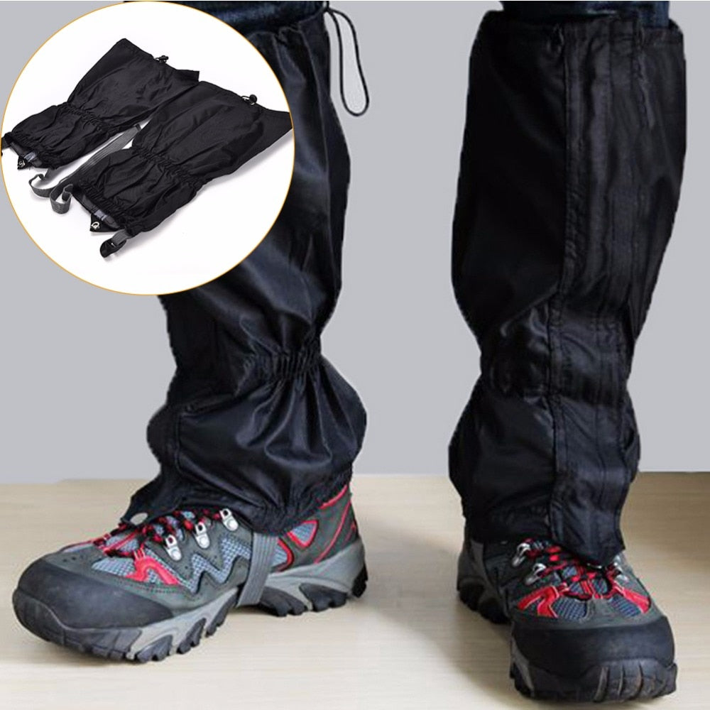 1 Pair Waterproof Windproof Outdoor Hiking Trekking Walking Climbing Hunting Snow Legging Gaiters Travel Kit