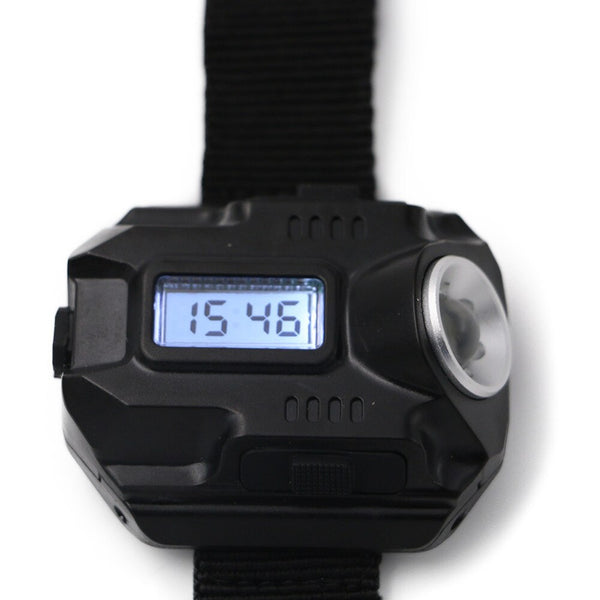 Portable Wrist Light XPE Q5 R2 LED Wrist Watch Flashlight Torch Light USB Charging Wrist Model Tactical Rechargeable Flashlight