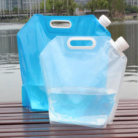 Folding Water Bag Canister Portable Folding Water Storage