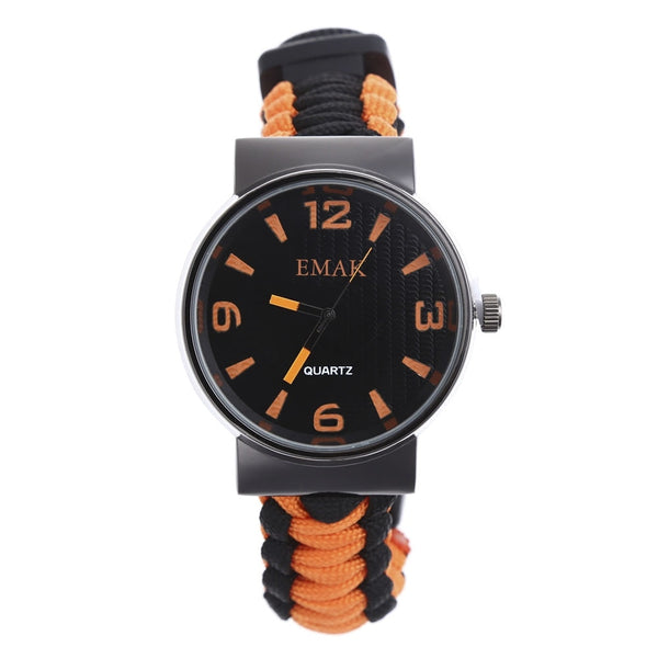 Outdoor Survival Watch Multifunctional Waterproof Military Tactical Paracord Watch