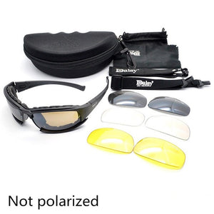 Sport Polarized Sunglasses Daisy C5 X7 Tactical Military Glasses - Hunting Shooting Airsoft Goggles 4 Lenses