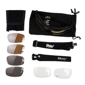 Daisy X7 Tactical Sunglasses UV400 Protection Military Goggles