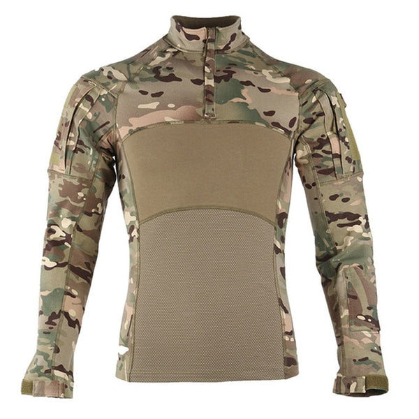 Men Tactical Clothing Military Camouflage Airsoft  Army Suit Breathable Work Clothes