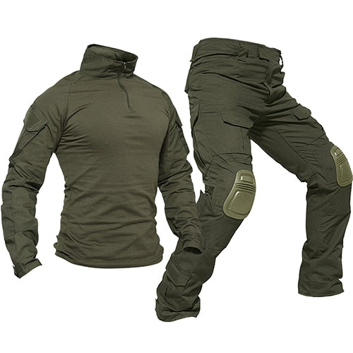 Tactical Uniforms Men Rip-stop Camouflage Military Clothing Sets