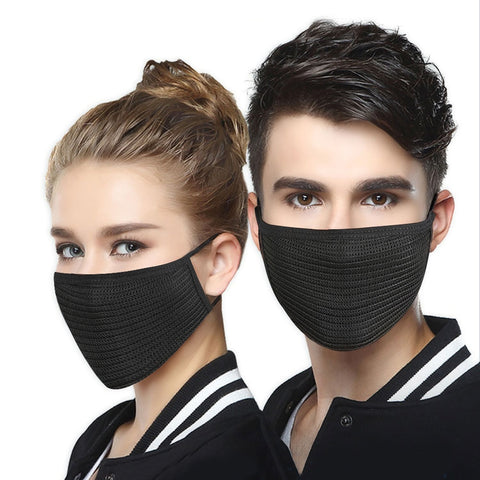 dust-proof black cotton mask