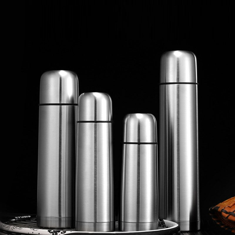 New Double-layer Bullet Shape Thermos Stainless Steel Flask