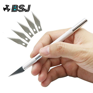Non-Slip Metal Scalpel Knife Tools Kit Cutter